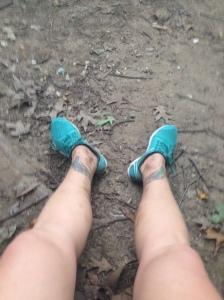 Dirty legs after a run through Rock Creek Park