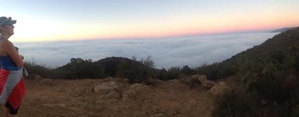 Ocean of clouds over Santa Barbara